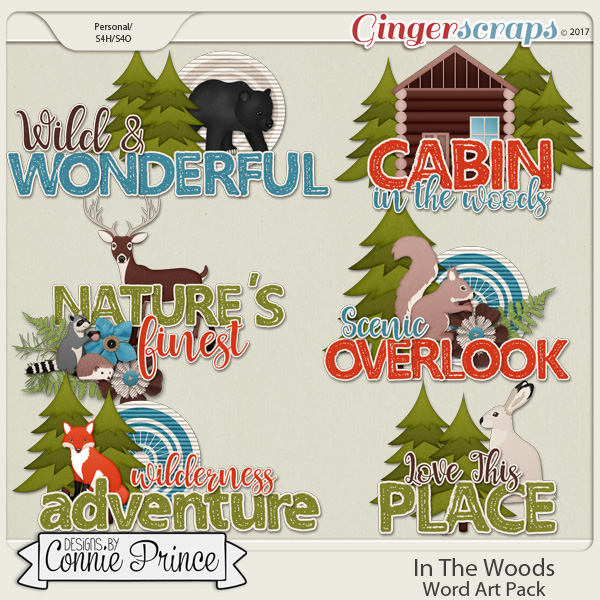 In The Woods - Word Art