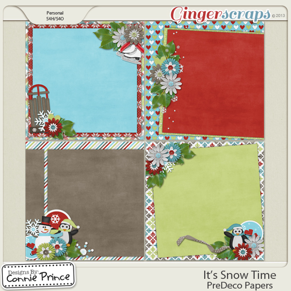 Retiring Soon - It's Snow Time - PreDeco Papers