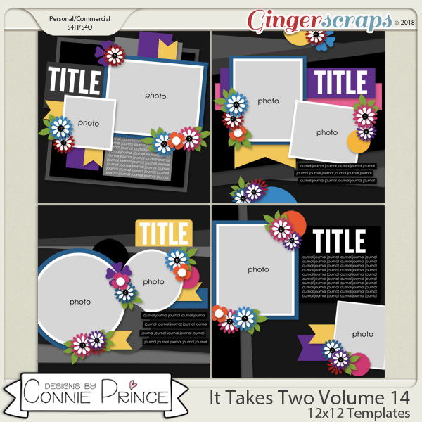 It Takes Two Volume 14 - 12x12 Temps (CU Ok) by Connie Prince