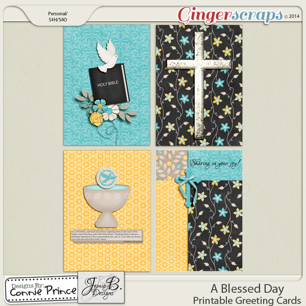 A Blessed Day - Printable Greeting Cards