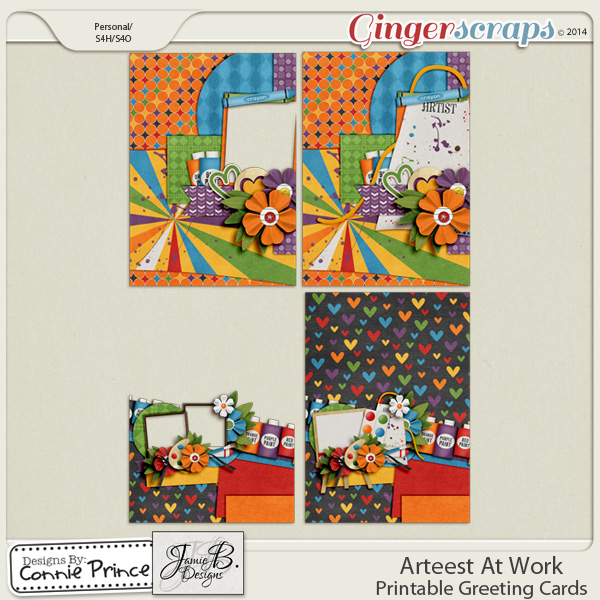 Arteest At Work - Printable Greeting Cards