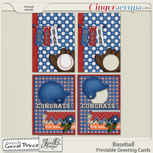 Baseball - Printable Greeting Cards
