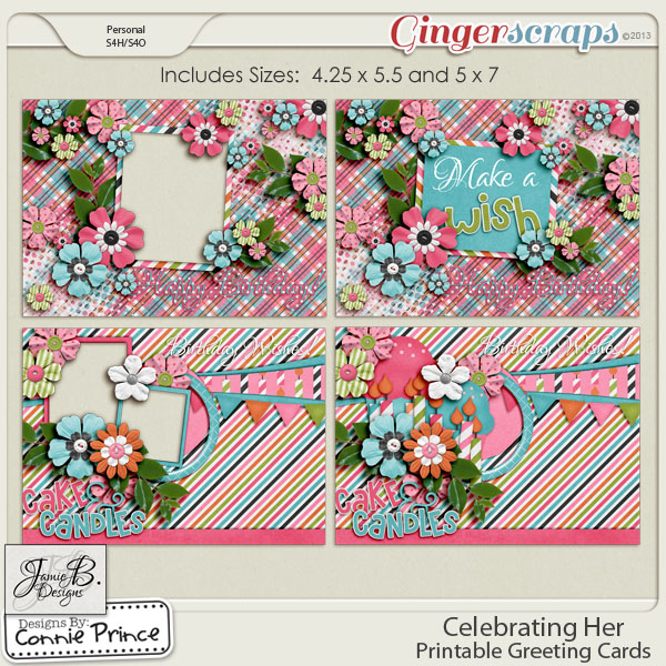 Celebrating Her - Printable Greeting Cards