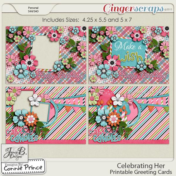 Retiring Soon - Celebrating Her - Printable Greeting Cards
