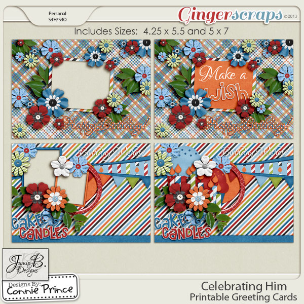 Celebrating Him - Printable Greeting Cards