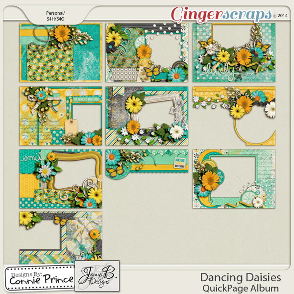 Dancing Daisies - Brag Book Album