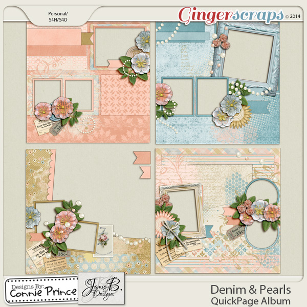Denim & Pearls - QuickPage Album