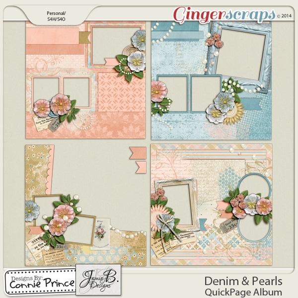 Retiring Soon - Denim & Pearls - QuickPage Album
