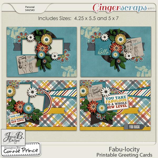 Fabu-locity - Printable Greeting Cards