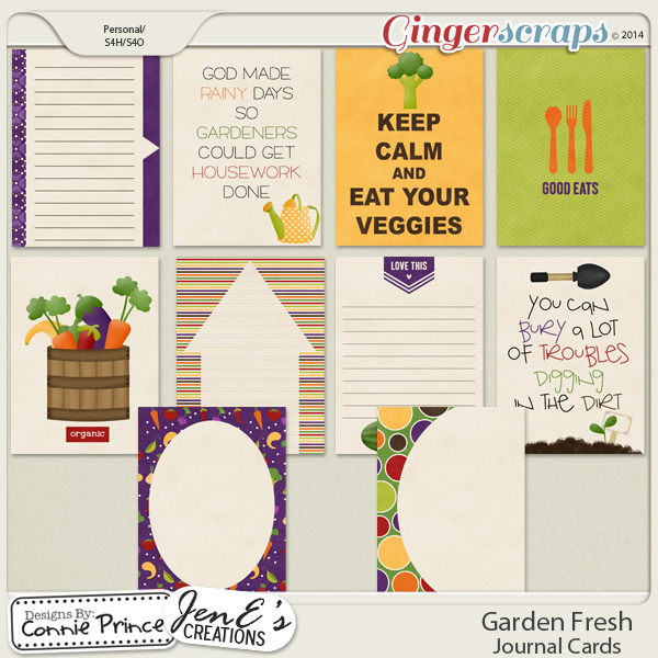 Garden Fresh - Journal Cards