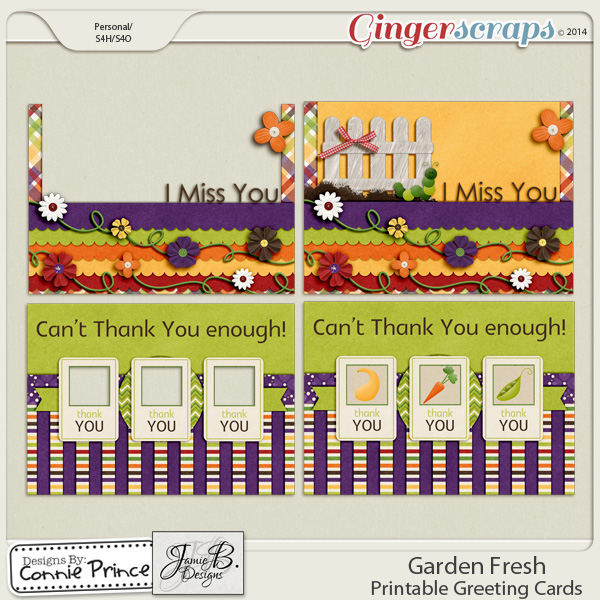 Garden Fresh - Printable Greeting Cards