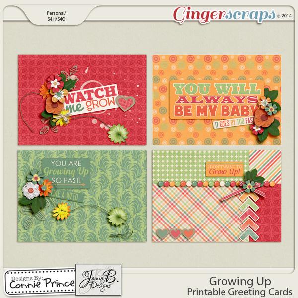 Growing Up - Printable Greeting Cards