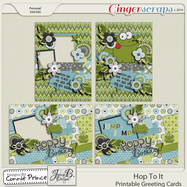 Hop To It - Printable Greeting Cards