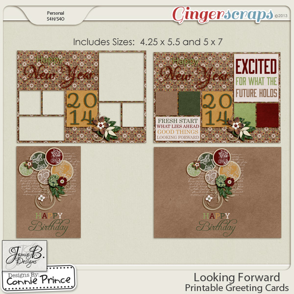 Looking Forward - Printable Greeting Cards
