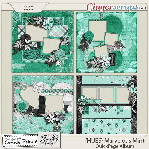 {HUES} Marvelous Mint - QuickPage Album