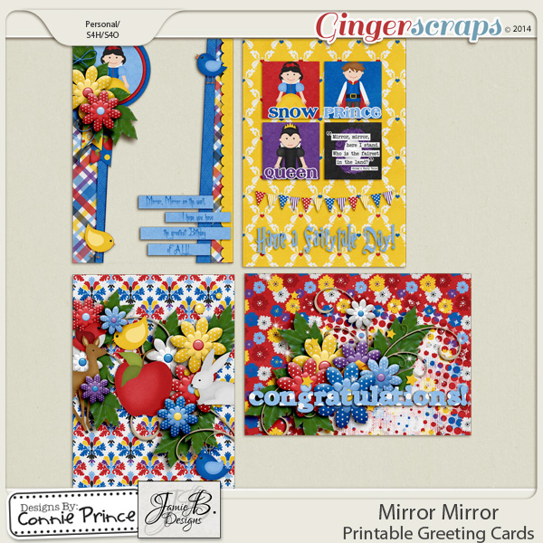 Mirror Mirror - Printable Greeting Cards