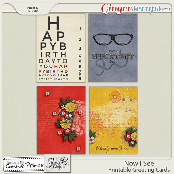 Now I See - Printable Greeting Cards