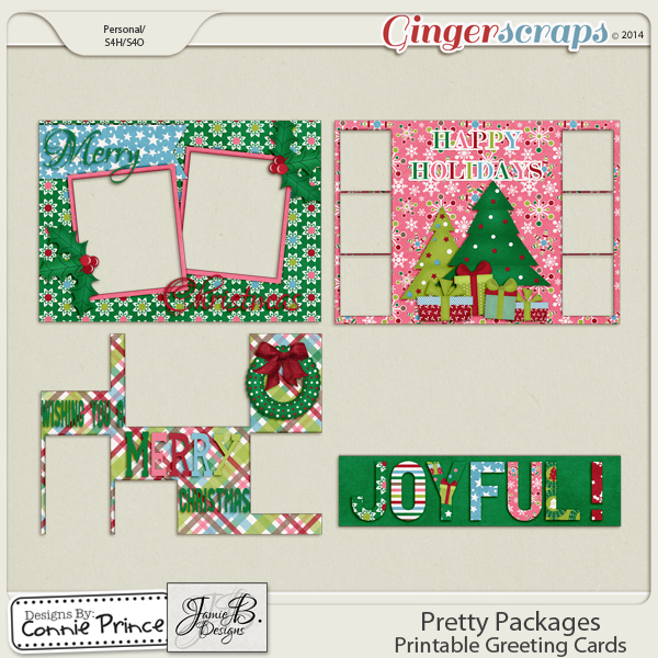 Pretty Packages - Printable Greeting Cards