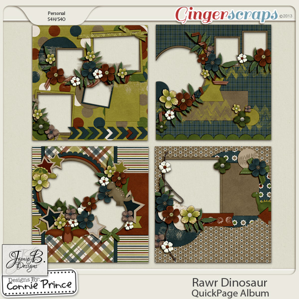 Rawr Dinosaur - QuickPage Album
