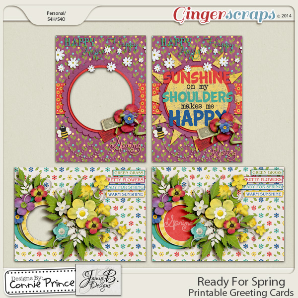 Ready For Spring - Printable Greeting Cards