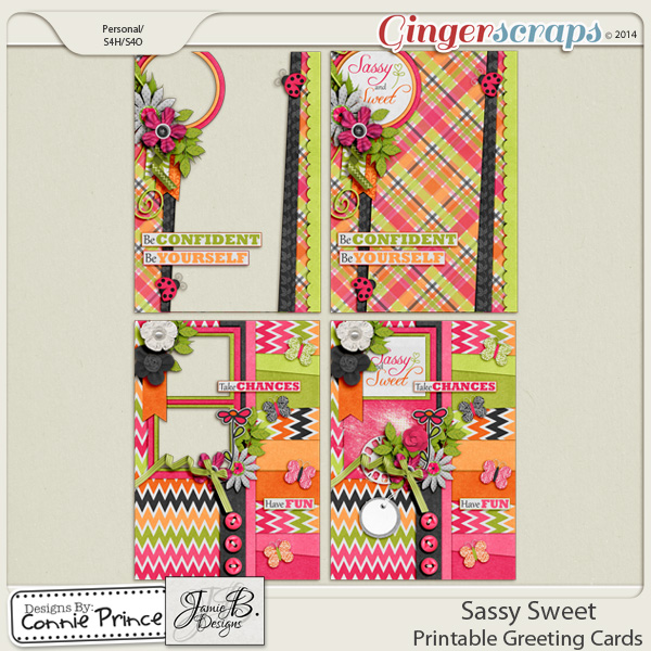 Sassy Sweet - Printable Greeting Cards
