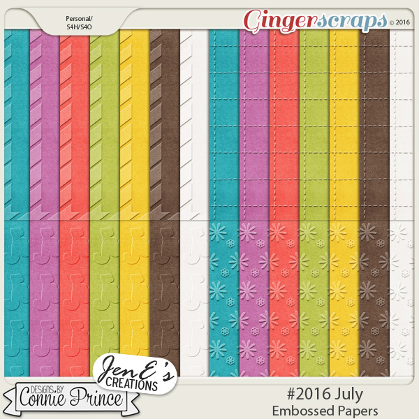 #2016 July - Embossed Papers