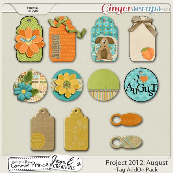 Retiring Soon - Project 2012: August - Tags AddOn Pack