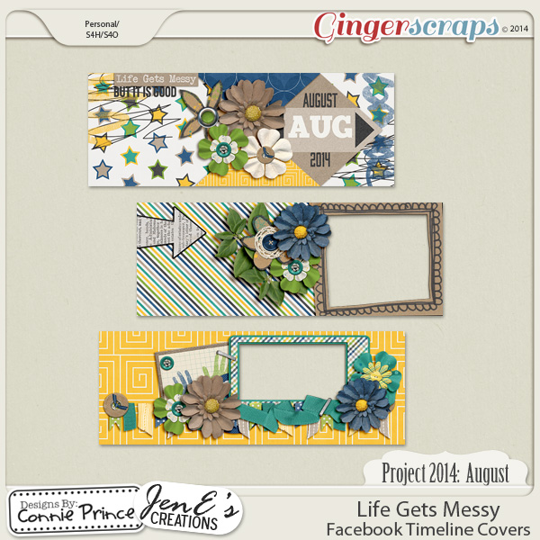 Project 2014 August: Life Gets Messy - Facebook Timeline Covers