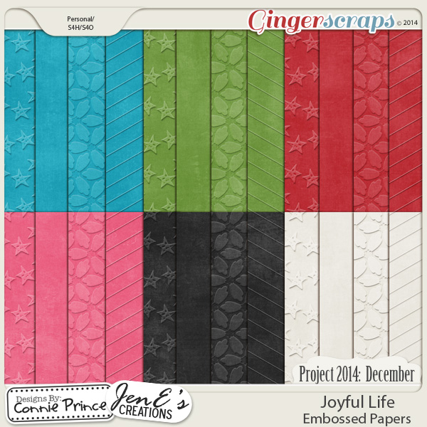 Project 2014 December: Joyful Life - Embossed Papers