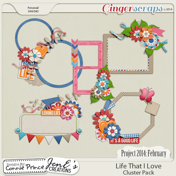 Project 2014 February:  Life That I Love - Cluster Pack