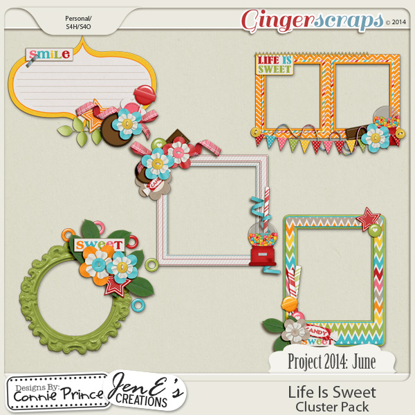 Project 2014 June:  Life Is Sweet - Cluster Pack