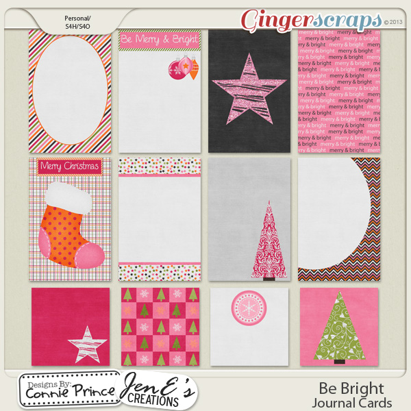 Be Bright - Journal Cards
