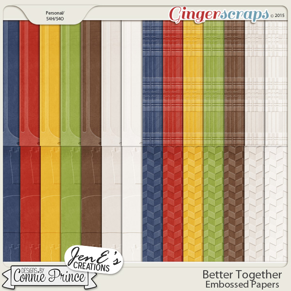 Better Together - Embossed Papers