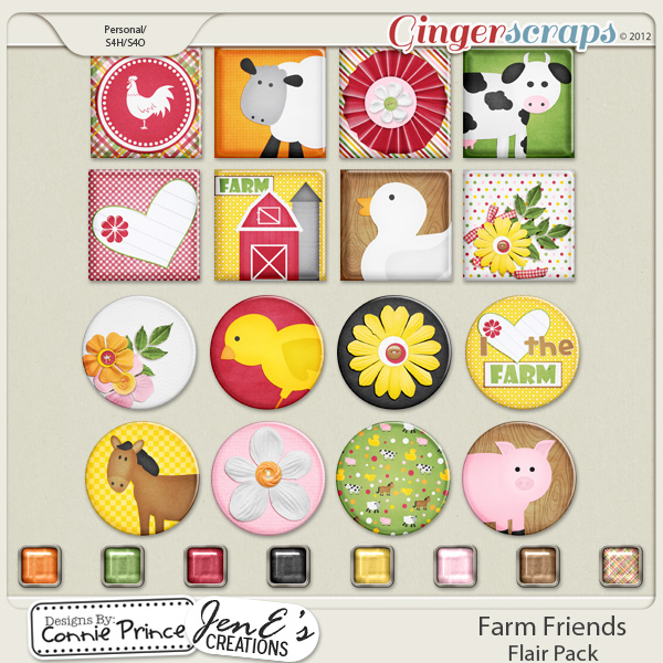 Farm Friends - Flair Pack