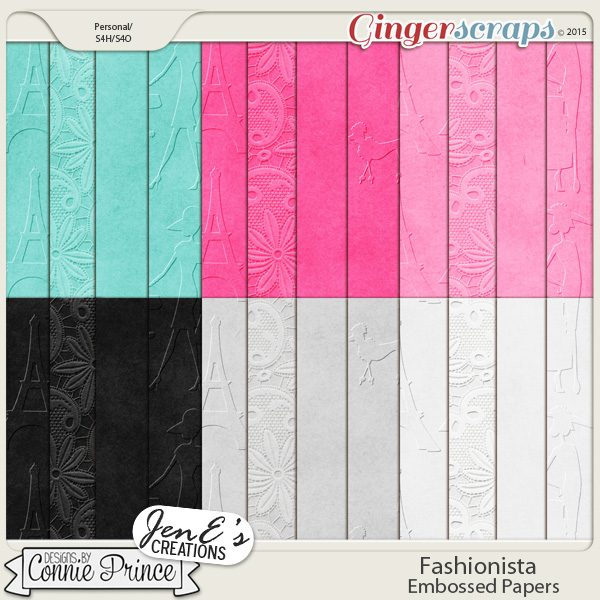 Retiring Soon - Fashionista - Embossed Papers