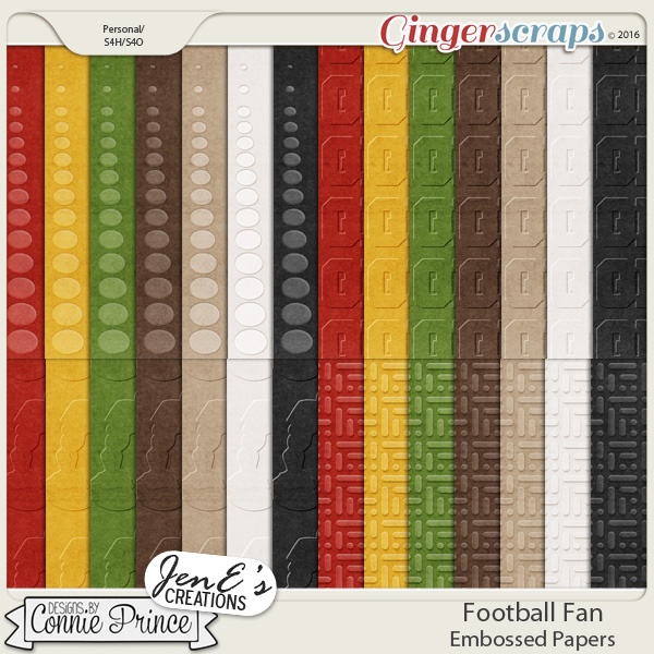 Football Fan - Embossed Papers