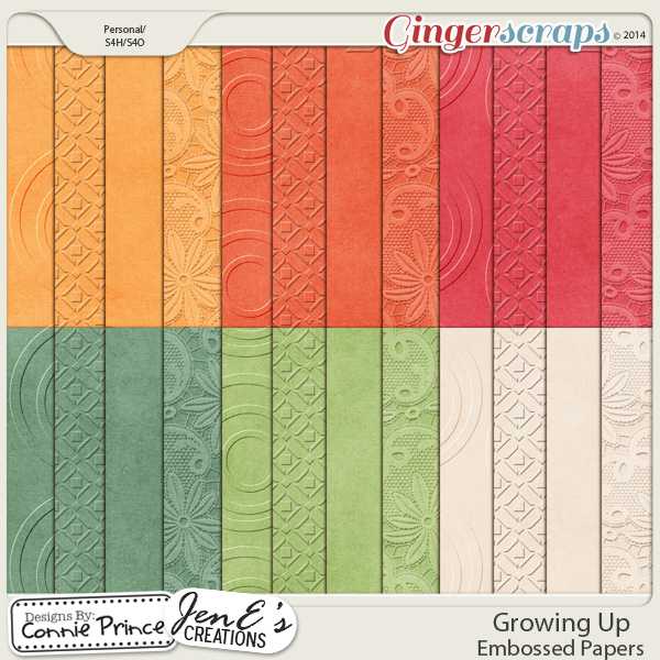Growing Up - Embossed Papers