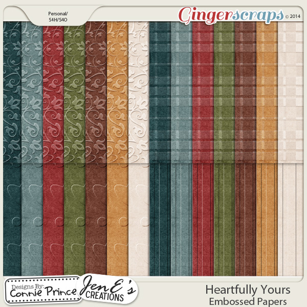 Heartfully Yours - Embossed Papers