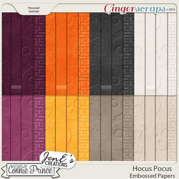 Hocus Pocus - Embossed Papers