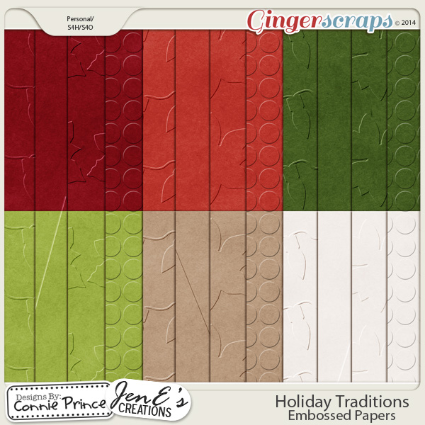 Holiday Traditions - Embossed Papers