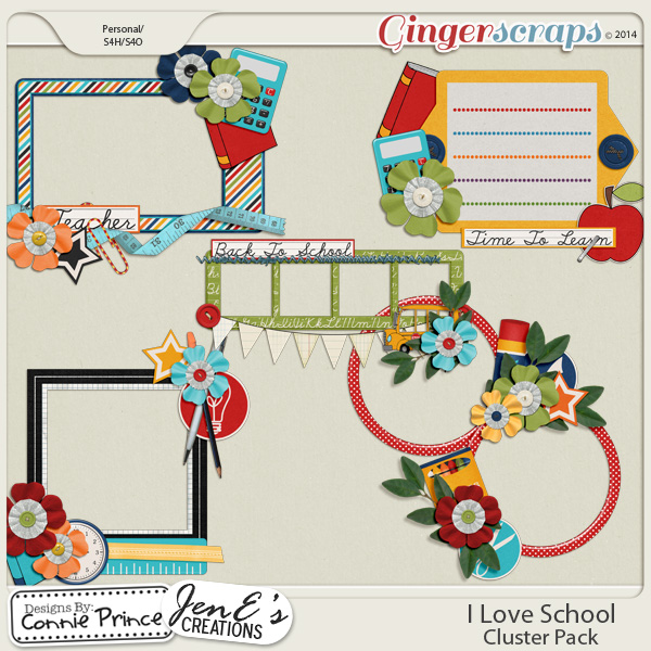 I Love School - Cluster Pack