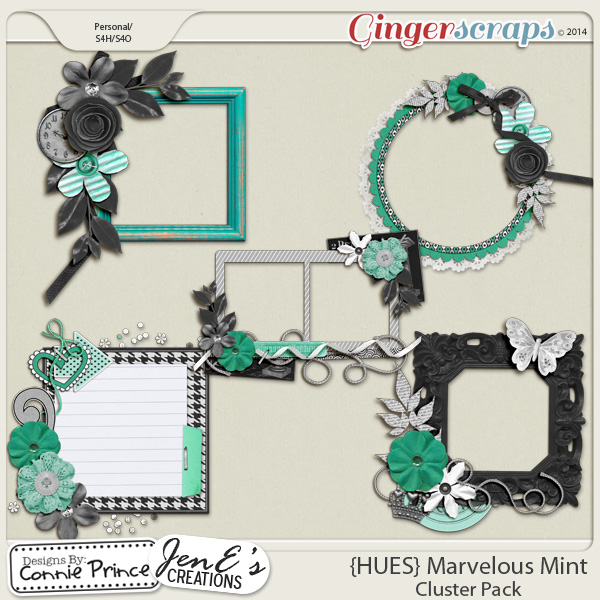 {HUES} Marvelous Mint - Cluster Pack