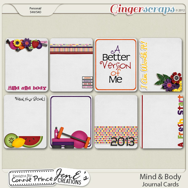 Mind & Body - Journal Cards