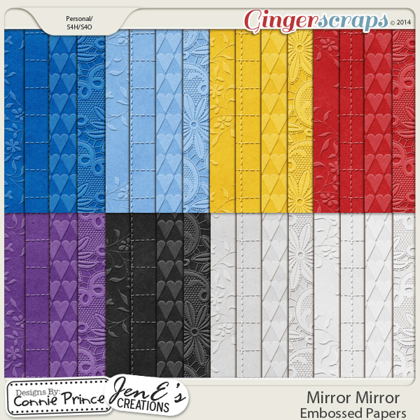 Mirror Mirror - Embossed Papers
