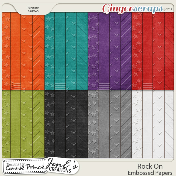 Rock On - Embossed Papers