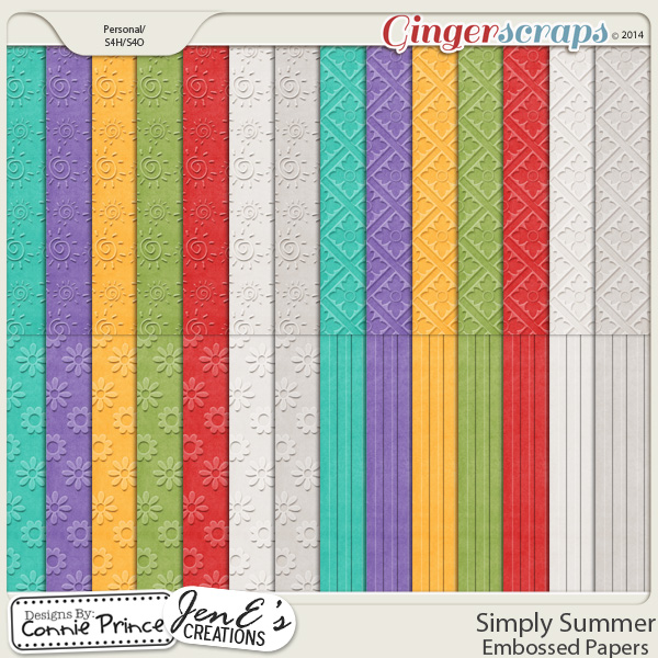 Simply Summer - Embossed Papers