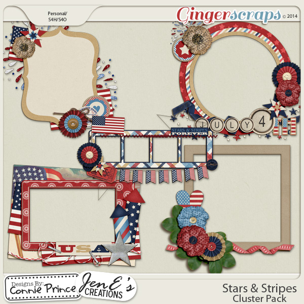 Stars & Stripes - Cluster Pack