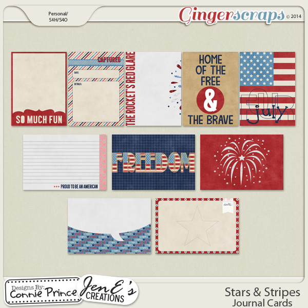 Stars & Stripes - Journal Cards