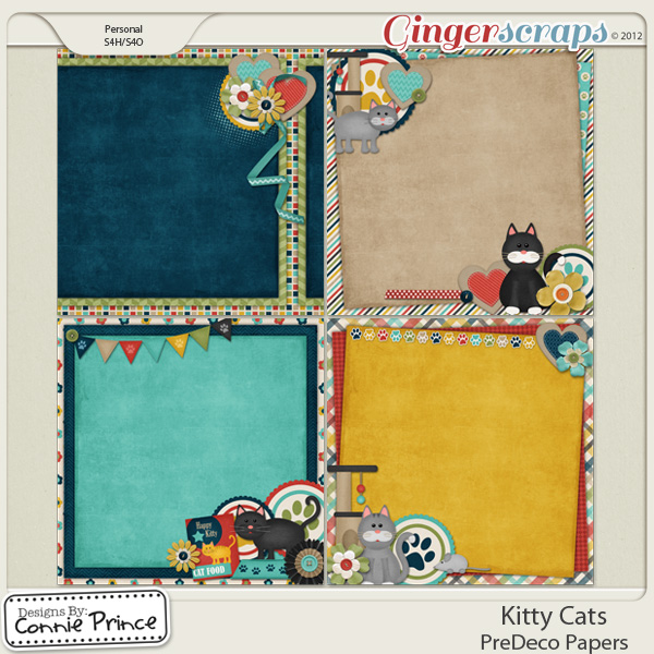 Kitty Cats - PreDeco Papers