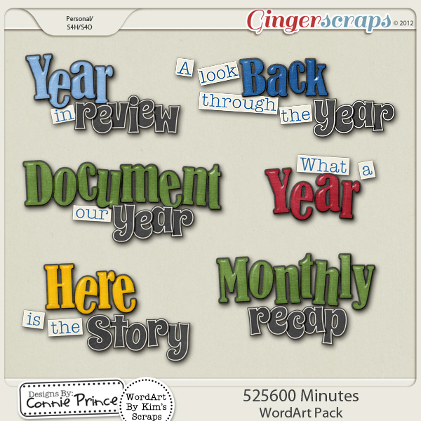525,600 Minutes - WordArt Pack